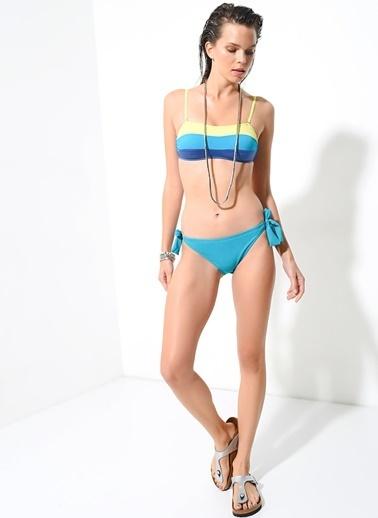 Morhipo Beach Kenarları Bağcıklı Bikini Altı Yeşil